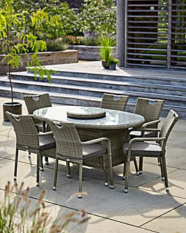 Miami 6 Seat Oval Rattan Dining Set