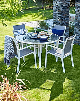 Eden 4 seat Dining Set with Lazy Susan