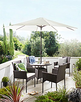 Newark 6 Piece Rattan Dining Set
