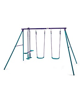 Plum Jupiter Double Swing Set