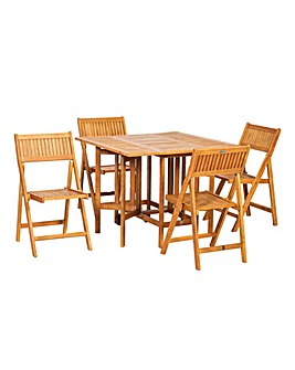 Brooklyn Patio Set with 4 Chairs