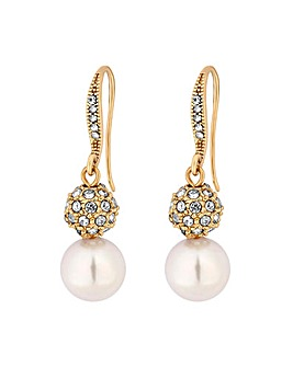 Jon Richard Snowman Drop Earring