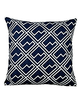 White Square Pattern Outdoor Cushion