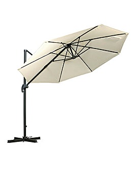 Ivory 3m Deluxe Cantilever Parasol