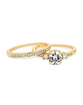 Jon Richard Engagement Ring Set