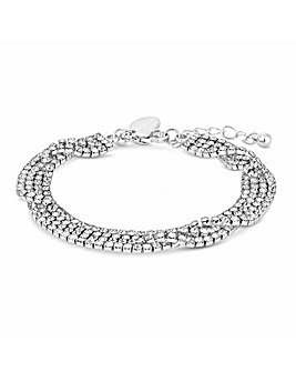 Jon Richard Crystal Multirow Bracelet