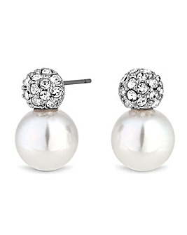 Jon Richard Snowman Stud Earring