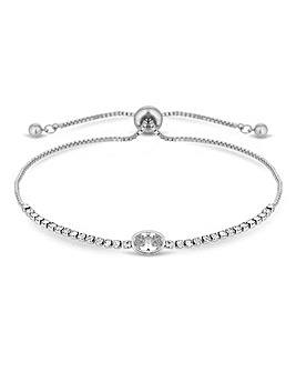 Jon Richard Diamante Toggle Bracelet