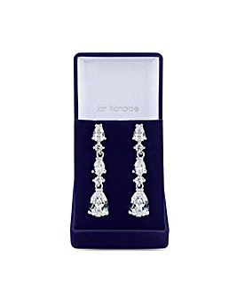 Cubic Zirconia Crystal Graduated Pear Drop Earring