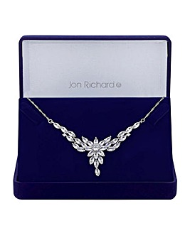 Jon Richard Floral Navette Necklace