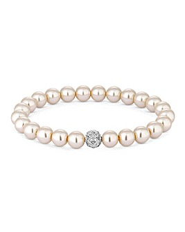 Jon Richard Cream Stretch Bracelet