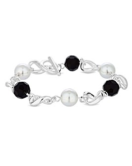 Jon Richard Pearl Bead T Bar Bracelet