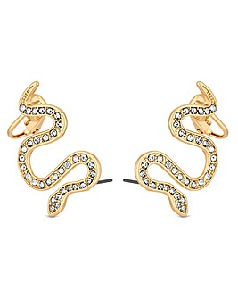 Mood Gold Snake Ear Climber Earrings