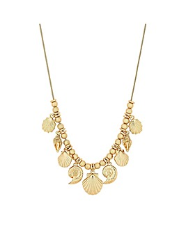 Mood Gold Shell Charm Allway Necklace
