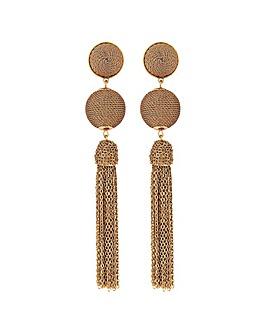 Mood Gold Chain Wrap Drop Earrings
