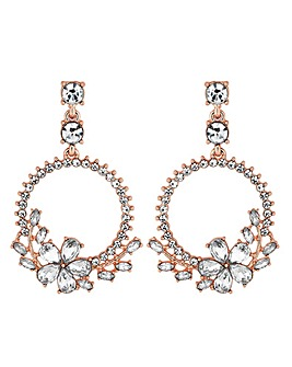 e59f45f5e Mood Diamante Drop Hoop Earrings