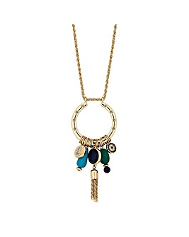 Mood Gold Mix Cluster Long Pendant