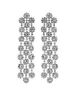 Mood Triple Flower Shower Chand Earrings