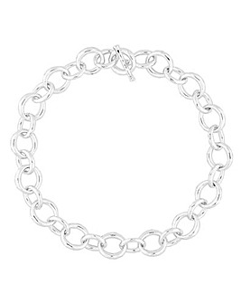 Mood Silver Chunky Chain Necklace