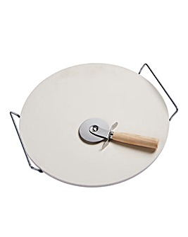 Spear & Jackson Pizza Stone & Cutter