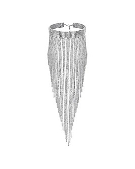 Mood Cupchain Statement Fringe Necklace