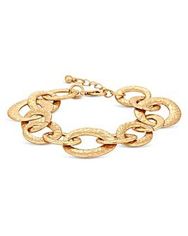 Mood Gold Texture Link Bracelet