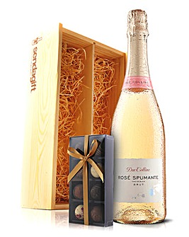 Virgin Wines Sparkling Wine and Chocs