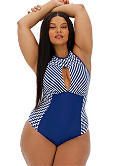 Figleaves Curve Santorini High Neck Swimsuit