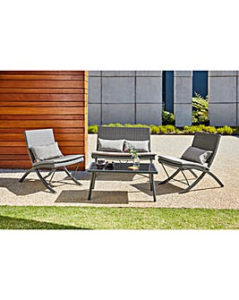 Marlow Folding Rattan Coffee Set