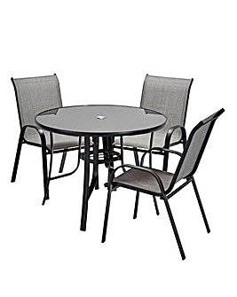 Wilmslow 4 Seat Stacking Dining Set