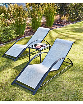 Aruba 3 Piece Lounger Set