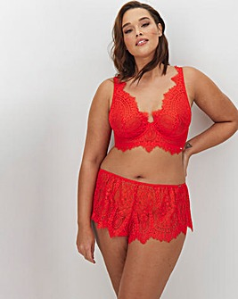 Figleaves Curve Adore Coral Lace High Apex Full Cup Bra