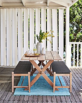 Odell Table and Bench Dining Set