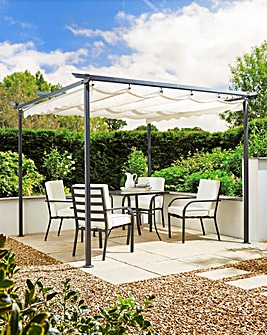 Pergola with Retractable Roof 3x3m