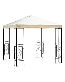 2.5m PVC Coated Decorative Square Gazebo