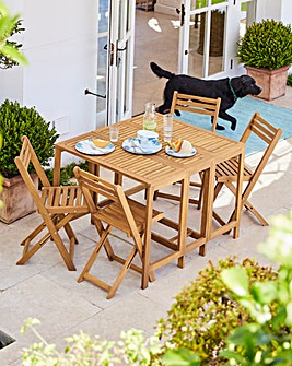 Barlow 4 Seat Foldable Dining Set