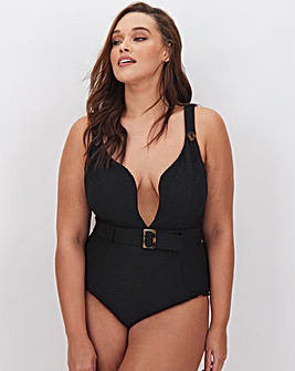 Figleaves Curve Sienna Textured Underwired Swimsuit