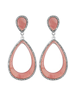 Mood Pave Outline Resin Teardrop Earring