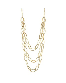 Mood Gold Long Multirow Link Necklace