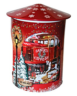 Santa Express Musical Rotating Biscuit Tin