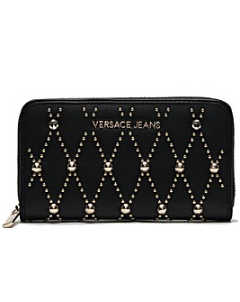 Versace Jeans Studded Zip Around Wallet