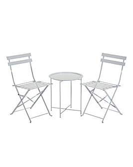 Maya Tray Bistro Set White
