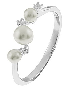 Accessorize Trailing Pearl Ring