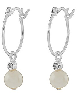 Accessorize Pearl Charm Hoop Earrings