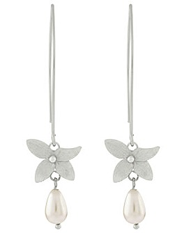 Accessorize Orchid Pearl Long Earrings