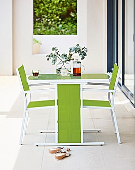 Capri 3 Piece Compact Dining Set Green