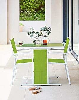 Capri 3 Piece Compact Dining Set Green