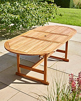 Extendable Oval FSC Wood Table 150/200cm