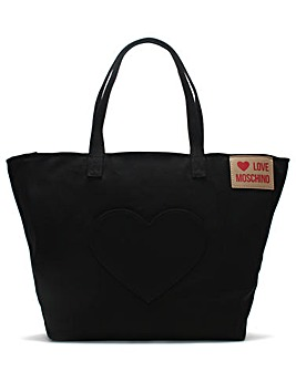 Love Moschino Large Canvas Shopper Bag