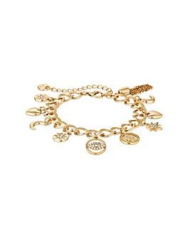 Lipsy Gold Plated Charm Bracelet